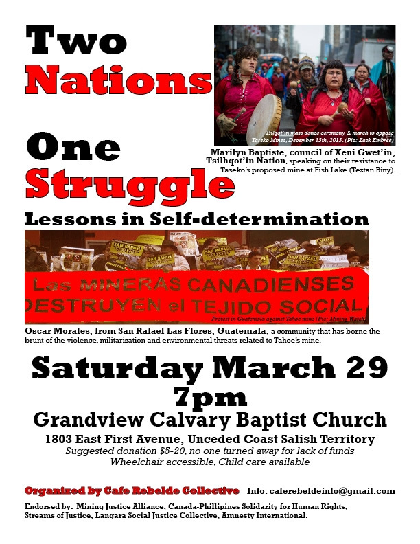 TWO NATIONS ONE STRUGGLE MARCH 29